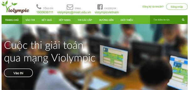 Violympic hay giải toán Violympic trên mạng chi tiết