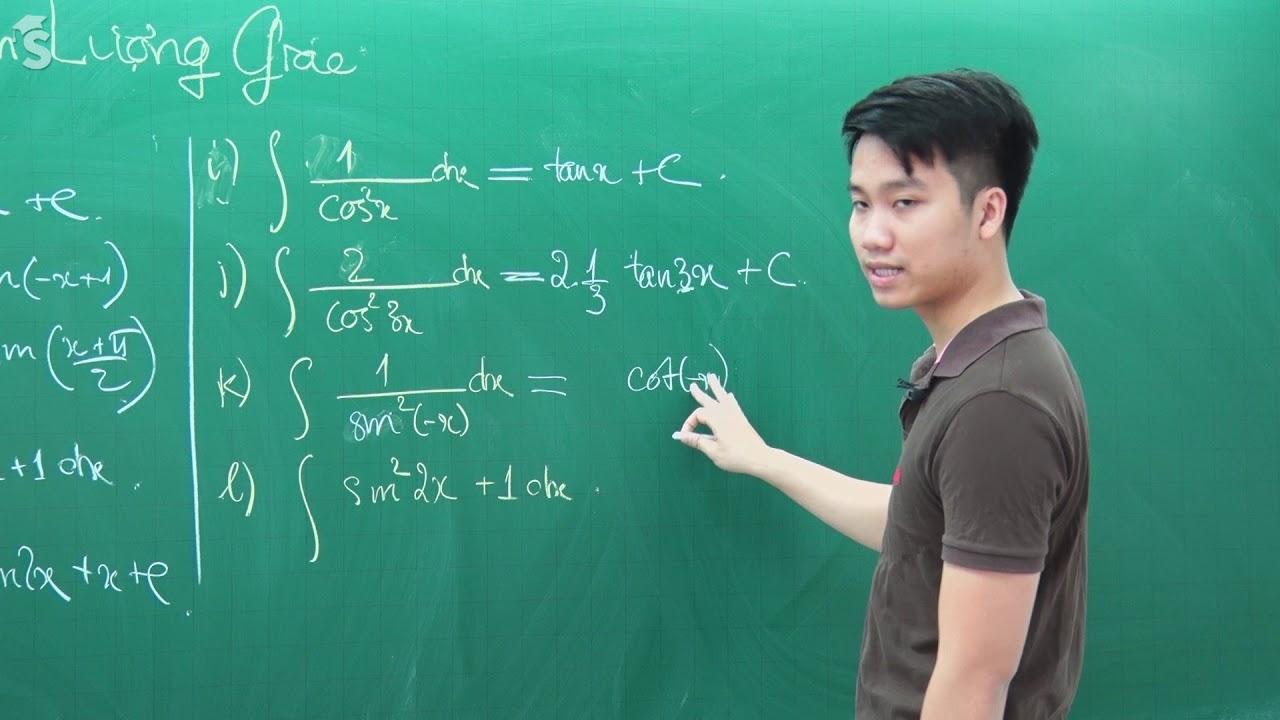 Bảng công thức nguyên hàm thường gặp